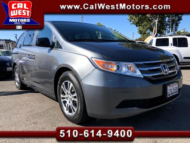 2013 Honda Odyssey EX-L Minivan Blu2th BUCam Leathr 1Owner SuperClean
