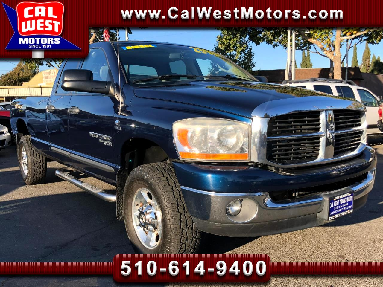 2006 Dodge Ram 2500 4X4 Quad Cab 8FT CumminsDiesel 1Owner SuperClean