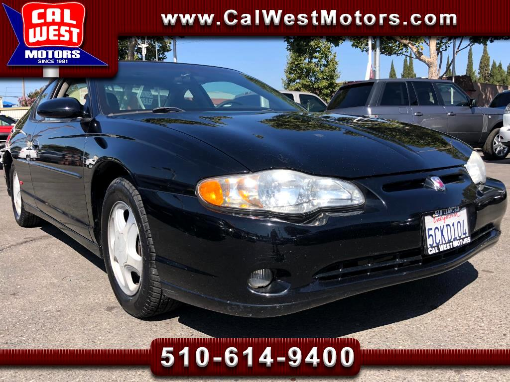 2004 Chevrolet Monte Carlo SS Sport Coupe V6 LowMiles VeryClean WellMntnd