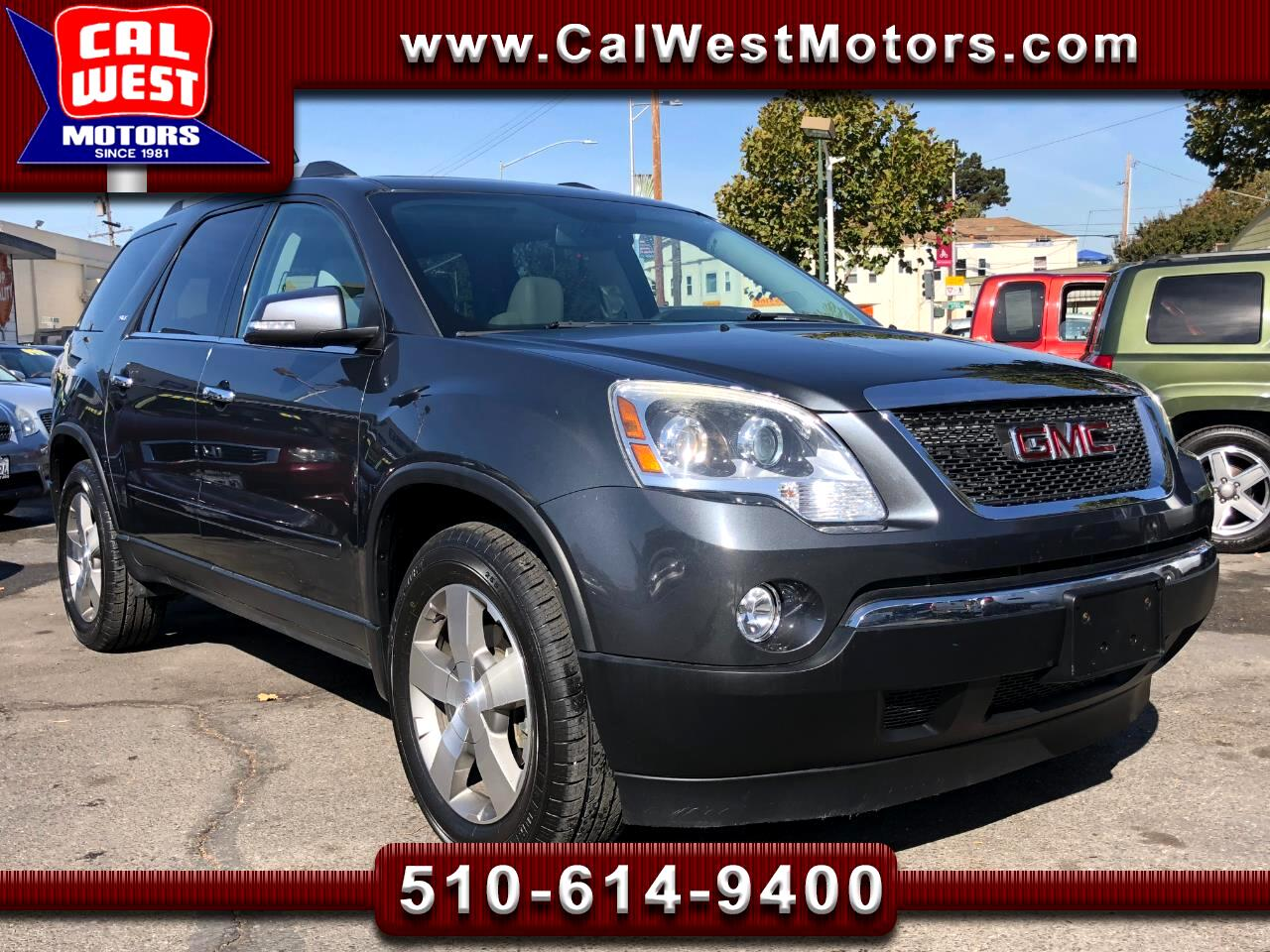 2011 GMC Acadia SLT 3Rows Blu2th BUCam 1Owner LowMiles ExMtnce