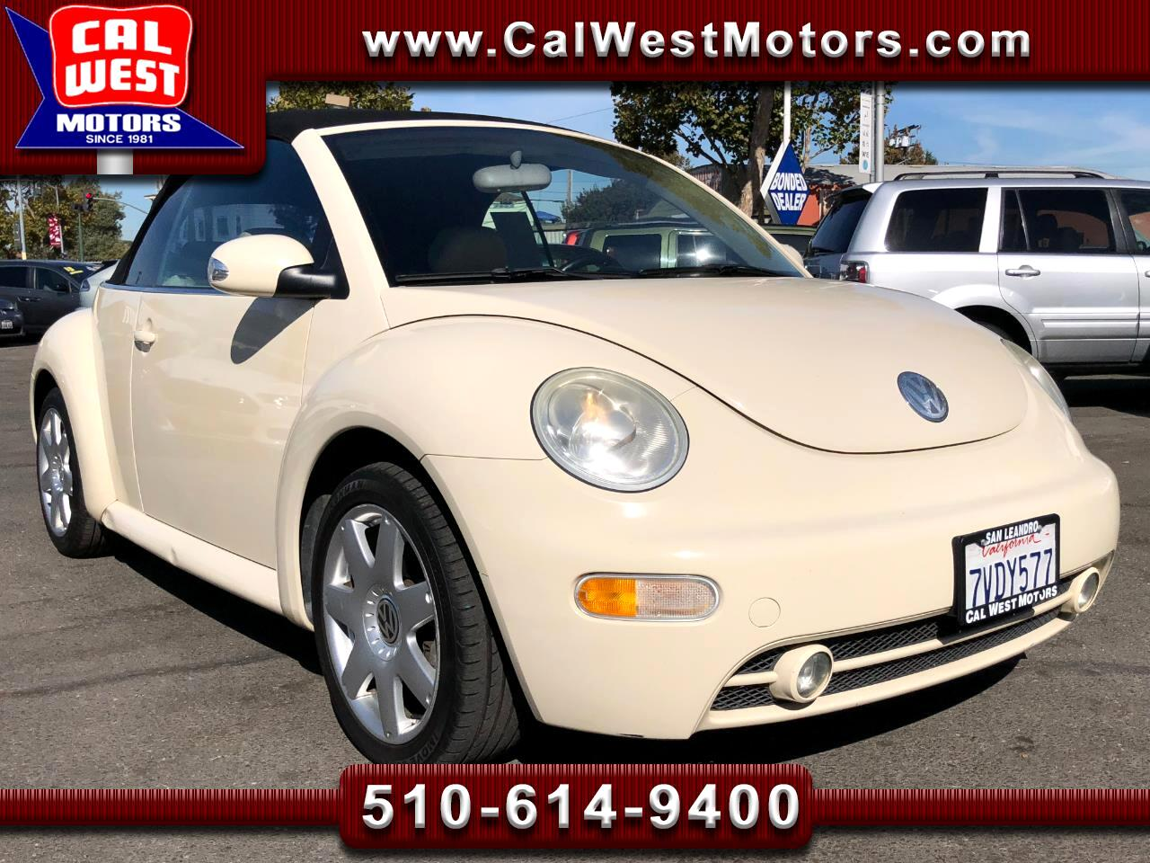 2003 Volkswagen New Beetle GLS Convertible Leather MPG+ VeryClean GreatMtnce
