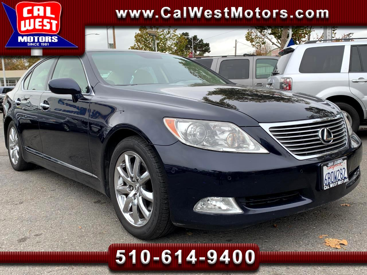 2008 Lexus LS 460 Luxury Sedan NAV BUCam 72K 1Owner GreatMtnceHist