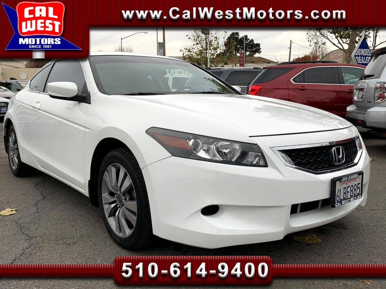 2010 Honda Accord EX Coupe AT BUCam LowMiles 1Owner SuperClean