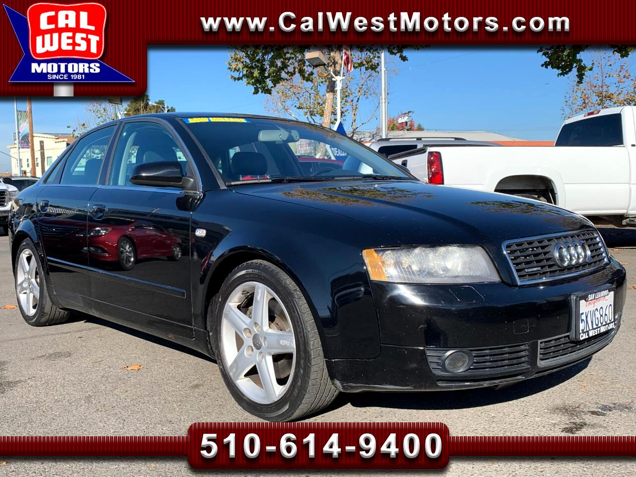 2005 Audi A4 Quattro AWD 3.0L BOSE LoMiles VeryClean ExMtnceHis