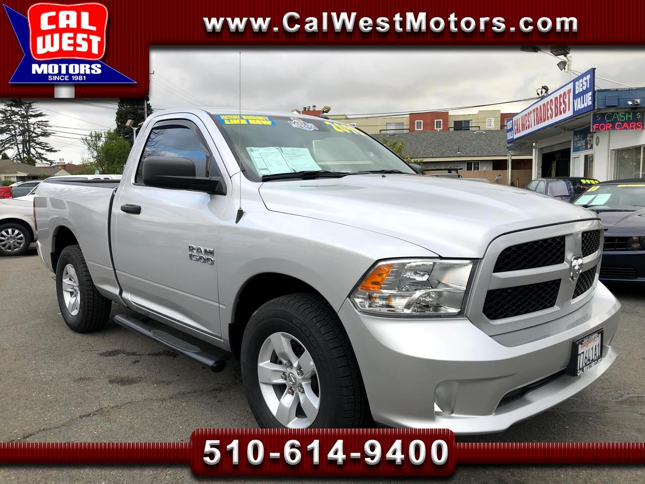 2017 RAM 1500 Express Reg Cab 1Owner Only5KMiles FactoryWarranty
