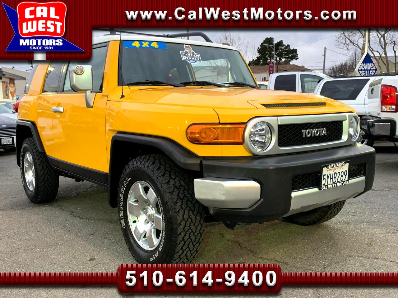 2007 Toyota FJ Cruiser 4WD AT CargoRack 1Owner VeryClean SuperNice