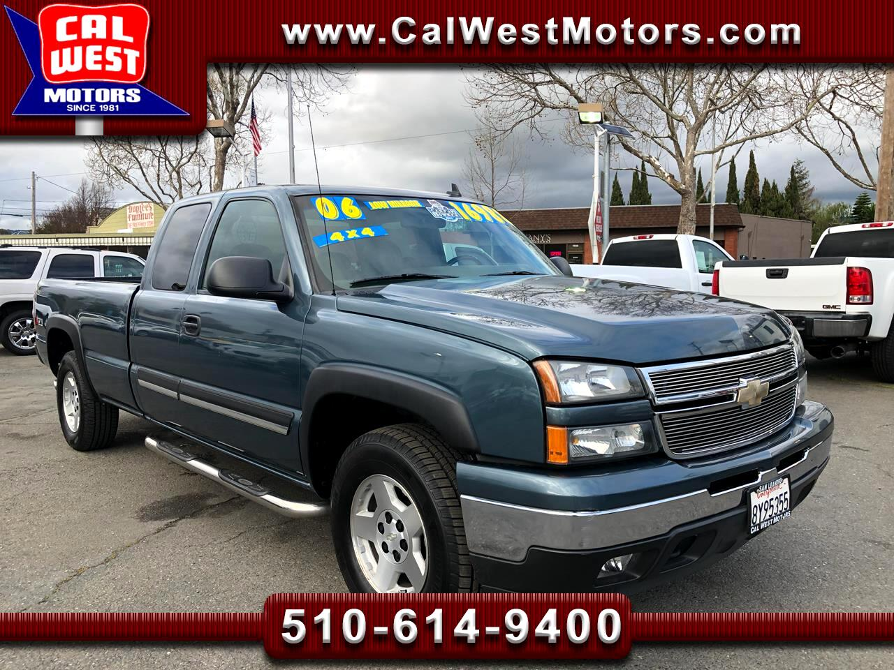 2006 Chevrolet Silverado 1500 4X4 Z71Pkg LT 8Ft 85K 1Owner SuperNice GreatMtnceH