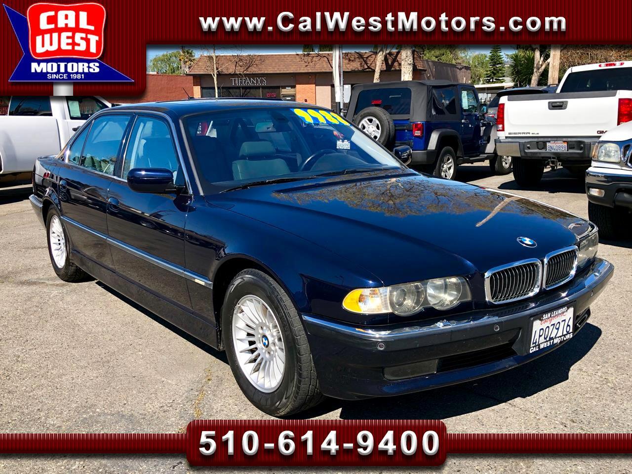 2001 BMW 7-Series 750iL NAV LowMiles VeryClean GreatMtnceHist