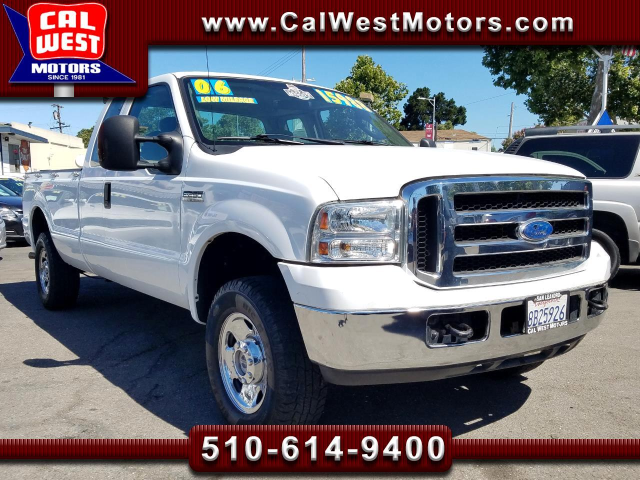 2006 Ford F-250 SD 4X4 SuperCab 8FT 70K 1Owner VeryClean ExMtnceHist