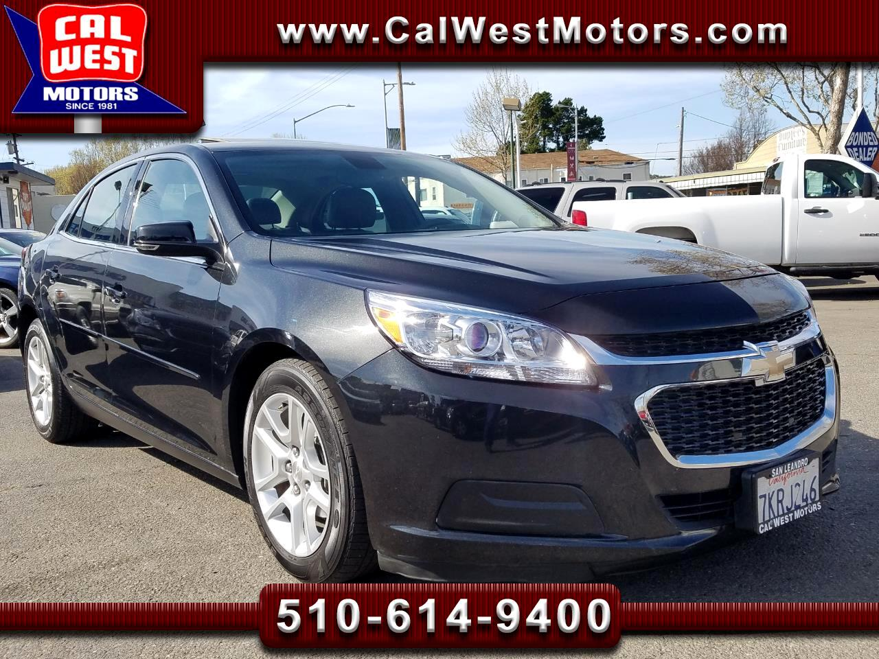2015 Chevrolet Malibu LT Sedan 1Owner SiriusXM Blu2th ExpertlyMaintained