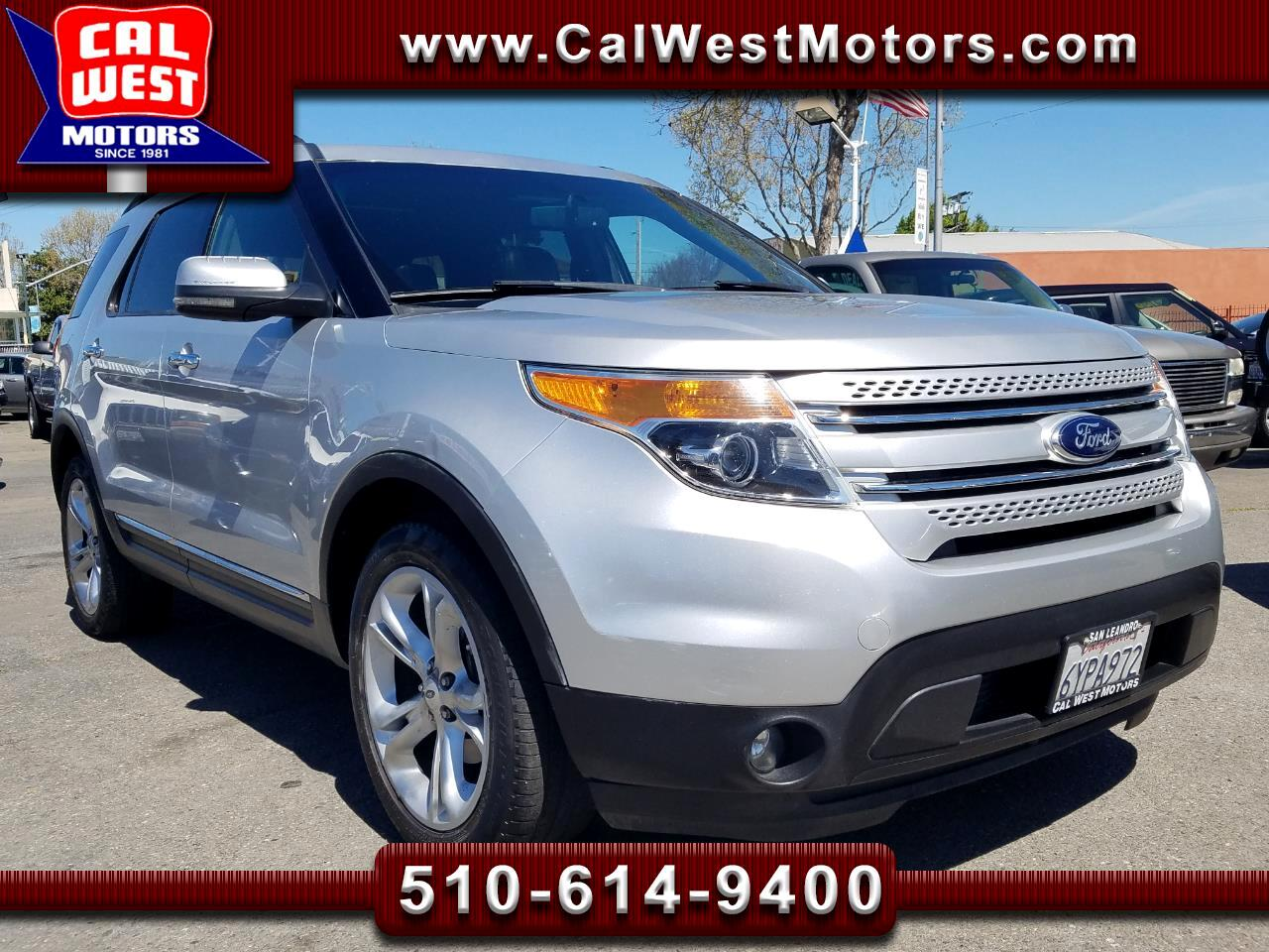 2013 Ford Explorer 4X4 Limited 3Rows SYNC BUCam GreatMtnceHist