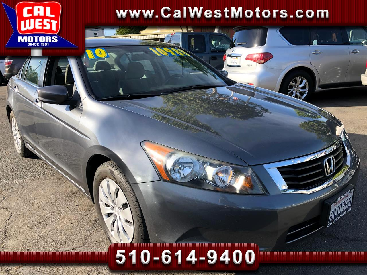 2010 Honda Accord LX Sedan i-VTEC 5-Spd Auto 1Owner AUX ExprtMaintnc