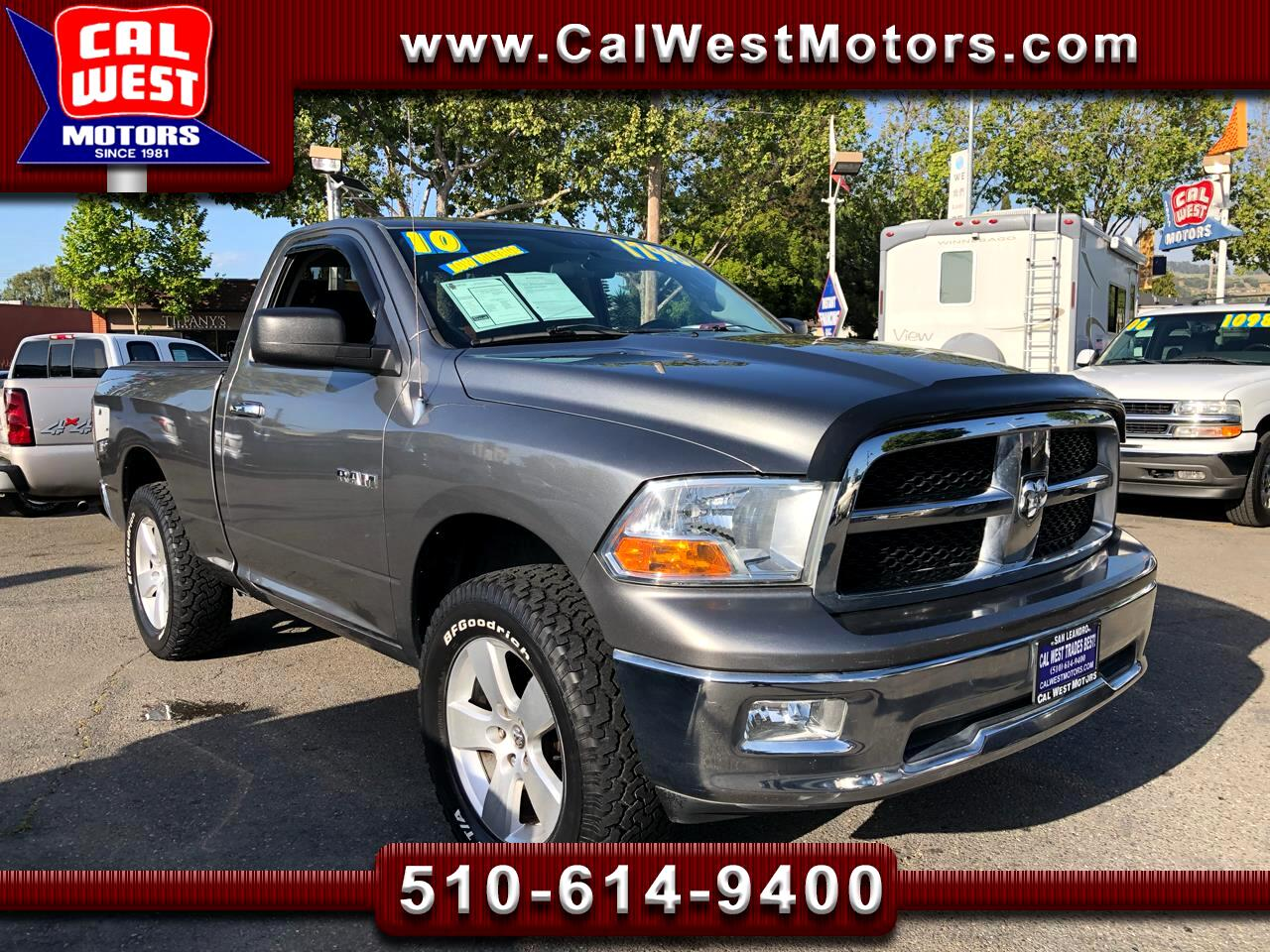 2010 RAM 1500 4X4 RegCab ShortBed LowMiles SuperNice GreatMtnce
