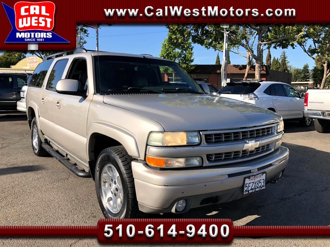 2004 Chevrolet Suburban 4X4 Z71Pkg 3Rows Leather BOSE VeryClean GreatMtnce