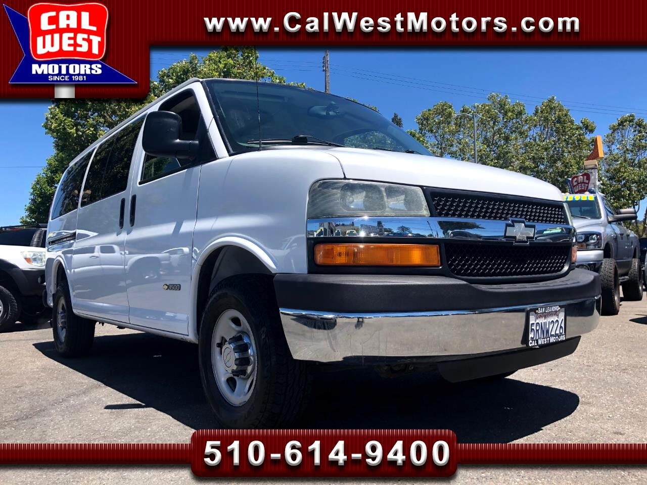 2006 Chevrolet Express 3500 12Passenger TowPk LoMiles SuperClean ExMtnceH
