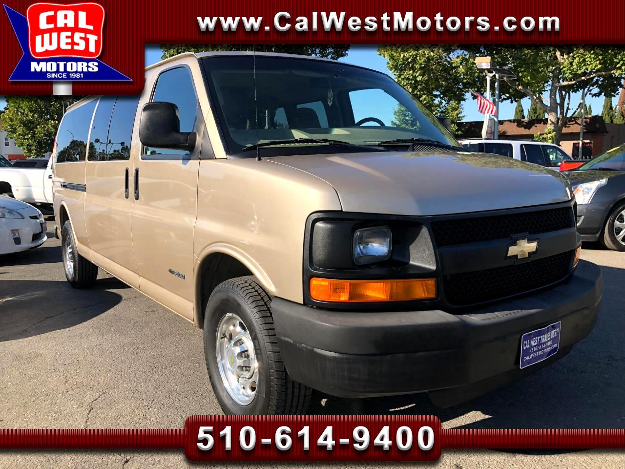 2005 Chevrolet Express 3500 Extended 15-Passenger LoMiles VeryClean