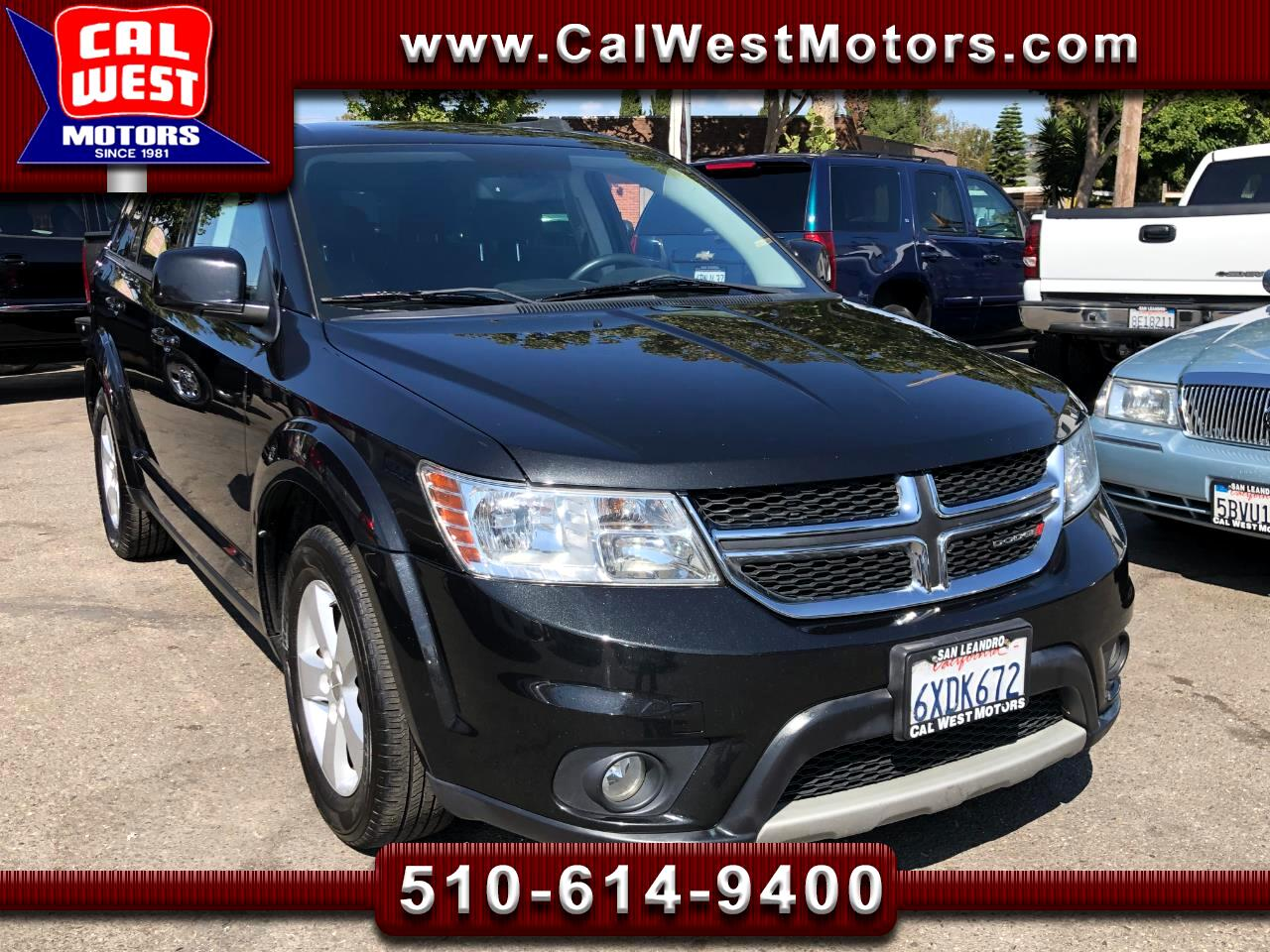 2012 Dodge Journey SXT SUV 3Rows 7Passngr Blu2th XM Aux ExprtlyMaintn