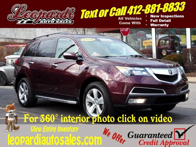 Acura MDX AWD 4dr Technology Pkg 2010