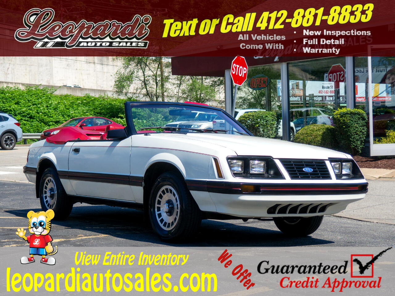 Ford Mustang 2dr GLX Convertible 1983