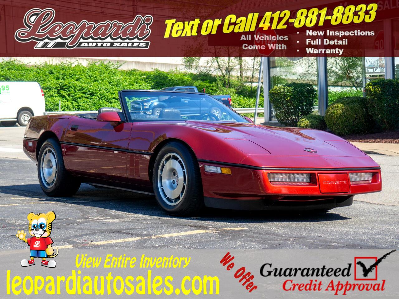 Chevrolet Corvette 2dr Convertible 1986