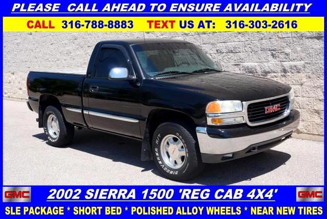 2002 GMC Sierra 1500 SLE Reg. Cab Short Bed 4WD