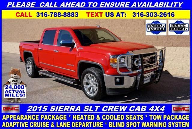 2015 GMC Sierra 1500 SLT Crew Cab Short Bed 4WD