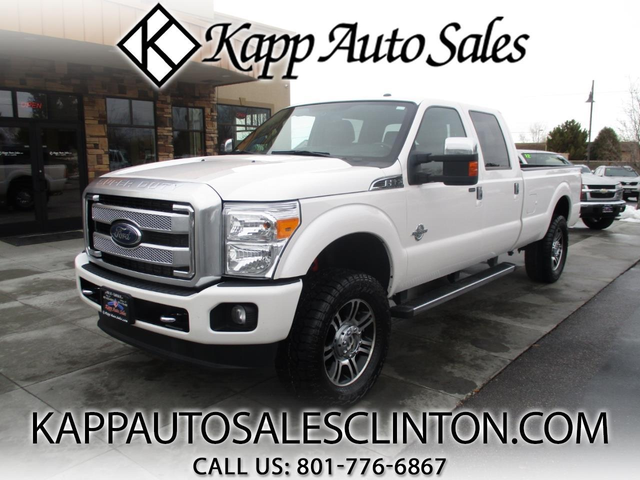 "2015 Ford Super Duty F-350 SRW 4WD Crew Cab 172"" Platinum"