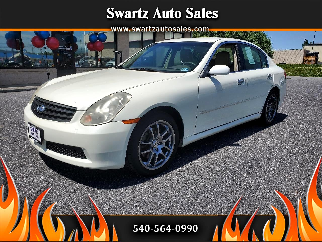 2006 Infiniti G35 Sedan G35 4dr Sdn Manual