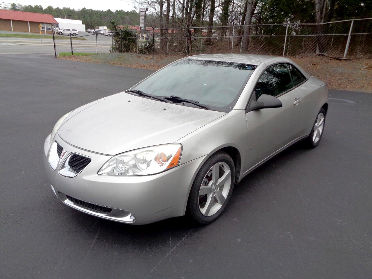 Used 2007 Pontiac G6 Gt Convertible For Sale In Monroe Nc 28110 Monroe Motor Company