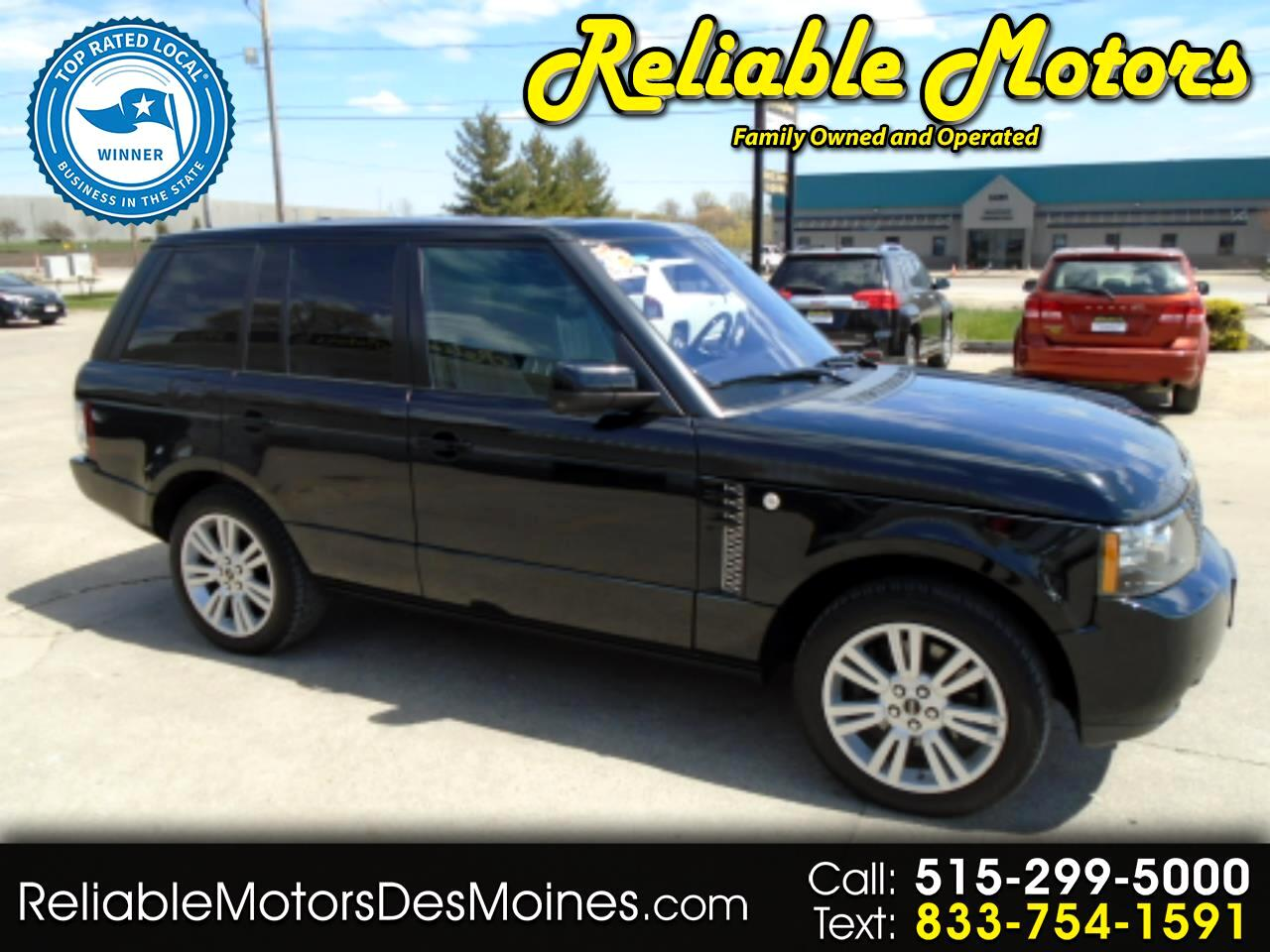 Land Rover Range Rover 4WD 4dr HSE LUX 2012