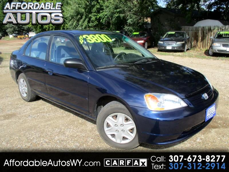 2003 Honda Civic 4dr Sdn LX Manual w/Side Airbags