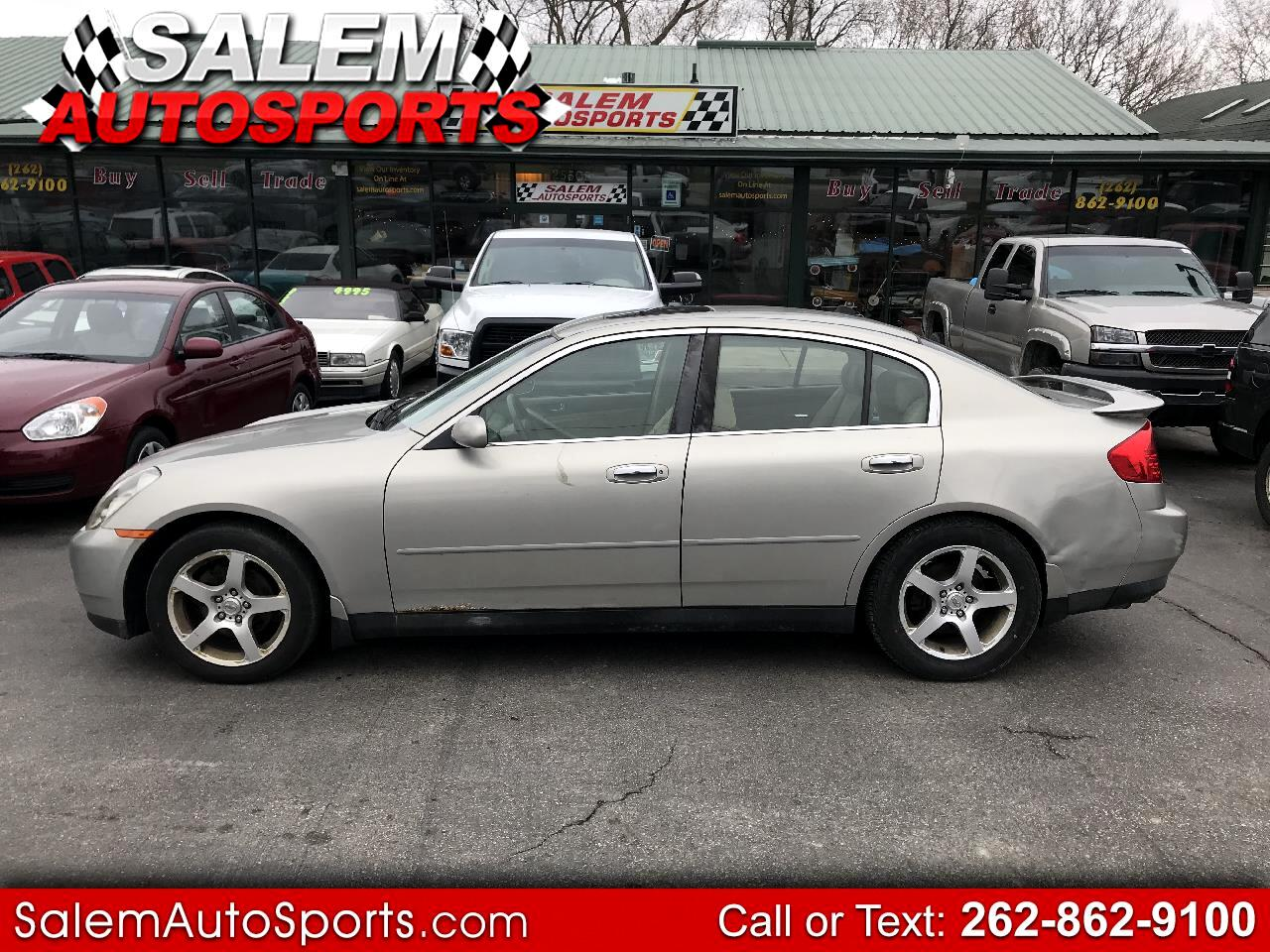Infiniti G35 Sedan 4dr Sdn Auto w/Leather 2003