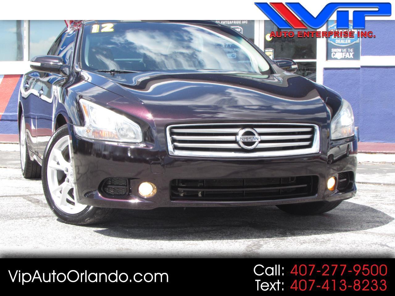 2012 Nissan Maxima 4dr Sdn V6 CVT 3.5 SV w/Premium Pkg