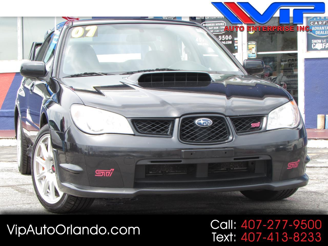 2007 Subaru Impreza Sedan 4dr H4 Turbo WRX STI w/Slver Wheels