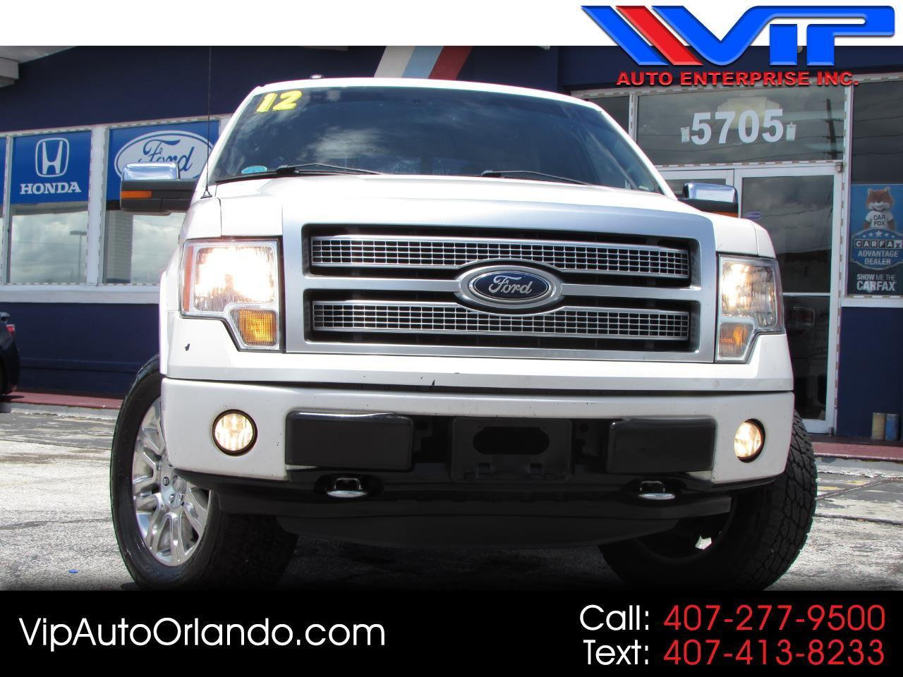 "2012 Ford F-150 4WD SuperCrew 157"" Platinum"