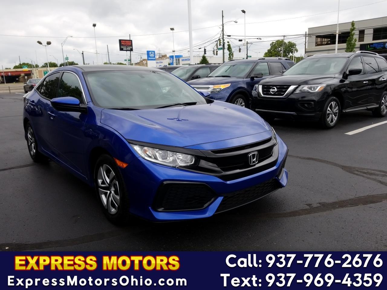 2017 Honda Civic Hatchback LX Manual