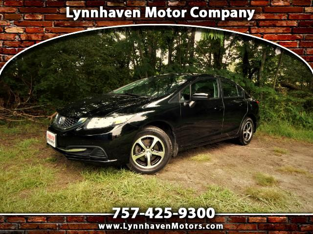 2015 Honda Civic Rear & Side View Cameras, Bluetooth, Alloy Wheels!