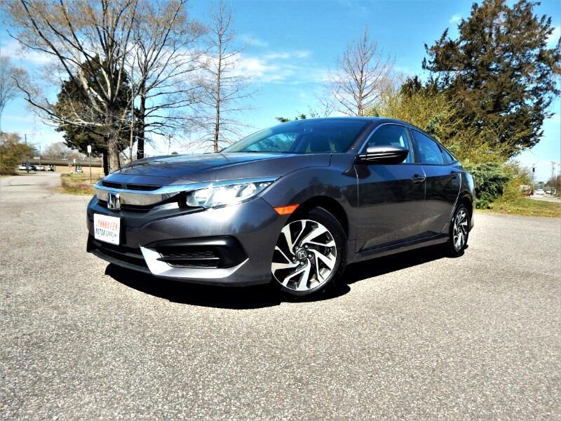 2016 Honda Civic EX w/ Rear & Side Cameras,Sunroof, 23k Miles!