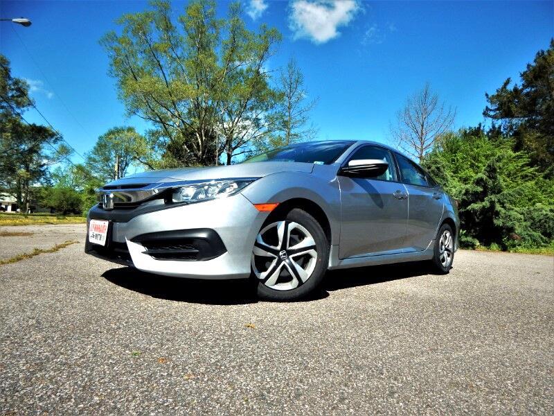 2016 Honda Civic LX w/ Rear Camera, Bluetooth, One Owner !