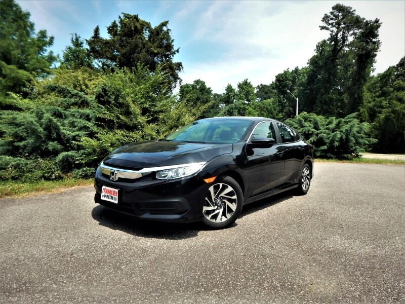 2016 Honda Civic EX w/ Sunroof, Rear & Side View Cameras,27K Miles!