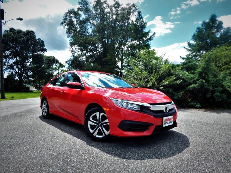 2016 Honda Civic LX w/ Rear Camera,Bluetooth,1 Owner,18K Miles!