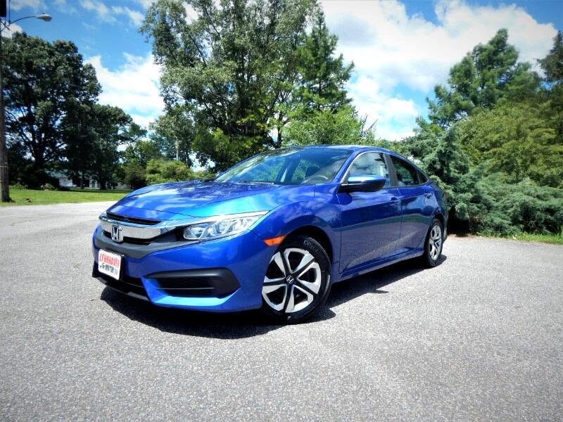2016 Honda Civic LX w/ Rear Camera, Bluetooth,1 Owner, 26k Miles!