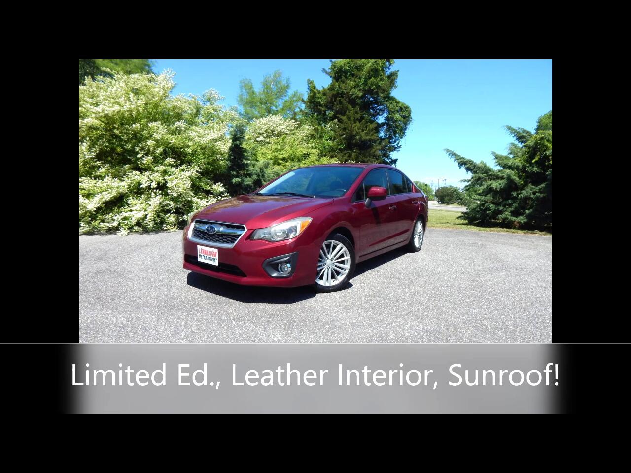 Subaru Impreza Limited 4-Door+S/R 2013
