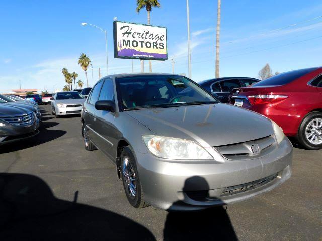 2005 Honda Civic LX Sedan AT w/ Front Side Airbags