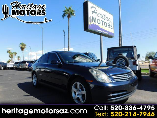 2004 Infiniti G35 4dr Sdn Manual w/Leather