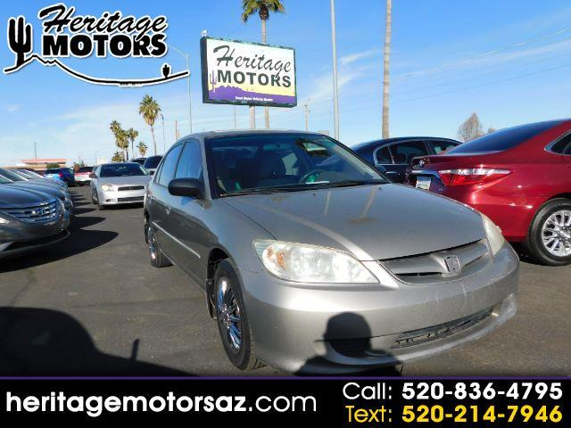 2005 Honda Civic LX Sedan AT w/ Front Side Airbags