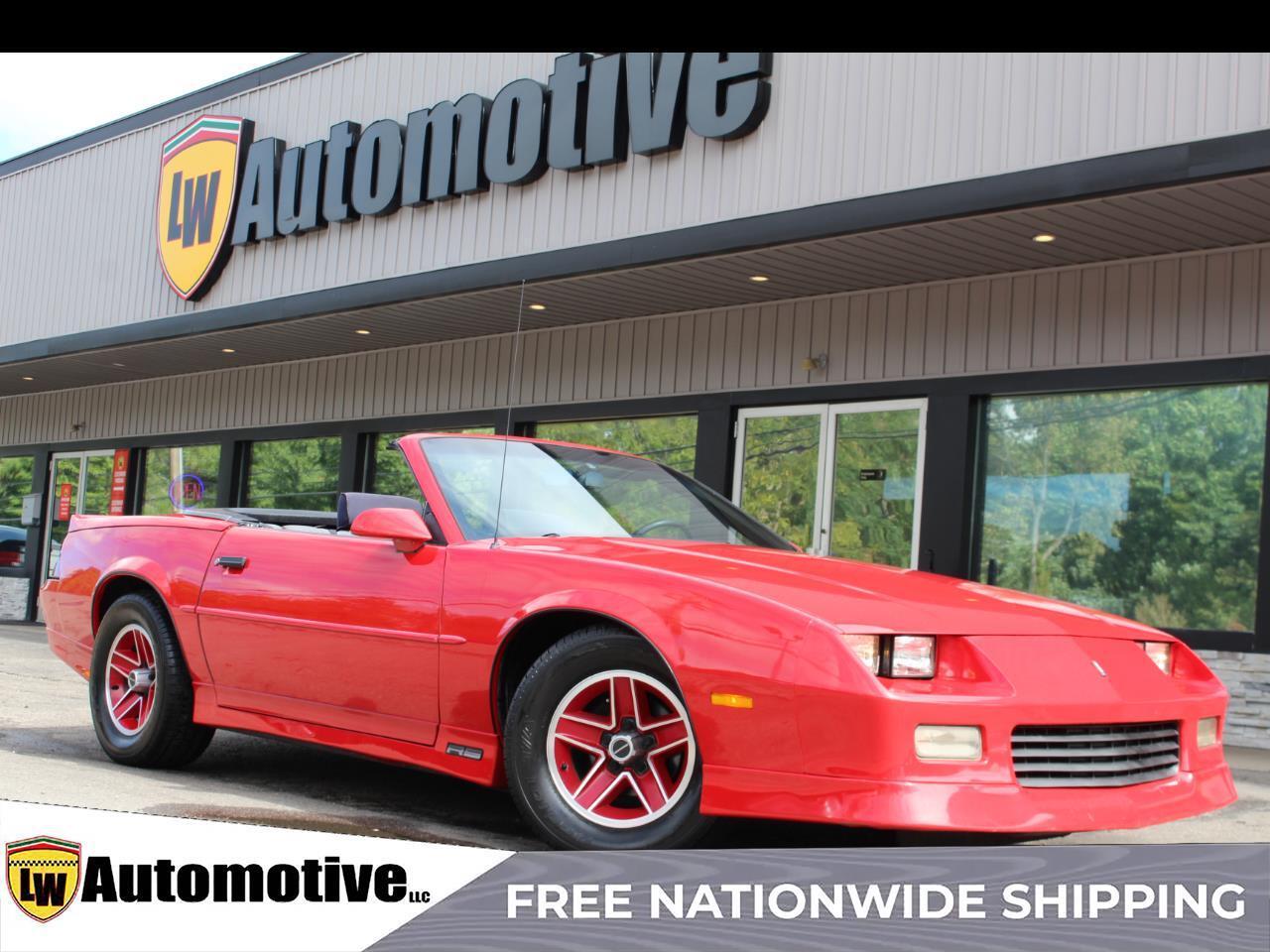 1989 Chevrolet Camaro 2dr Convertible RS