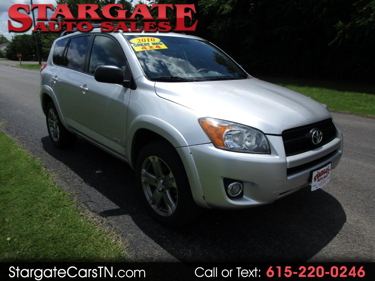 2010 Toyota RAV4 4WD 4dr 4-cyl 4-Spd AT Sport (Natl)