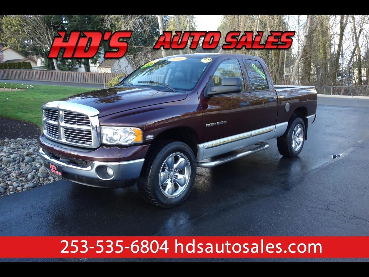 Dodge Ram 1500 Laramie Quad Cab Short Bed 4WD 2005