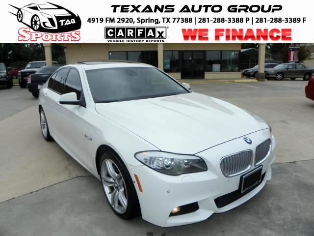 2012 BMW 5-Series 550i 8-SPEED STEPTRONIC LTH SNRF NAV BUCK UP CAM
